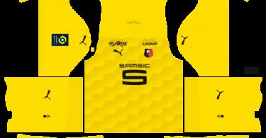 Dream League Soccer DLS 512×512 Stade Rennais GoalKeeper Home Kits