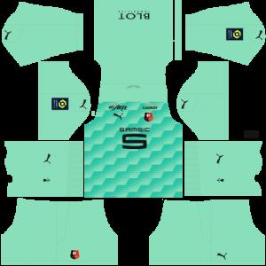 Dream League Soccer DLS 512×512 Stade Rennais GoalKeeper Third Kits