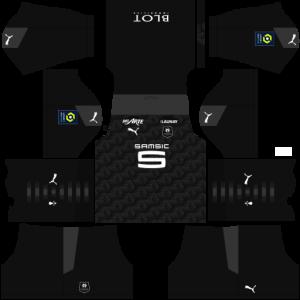 Dream League Soccer DLS 512×512 Stade Rennais Third Kits