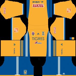 Dream League Soccer DLS 512×512 Tigres UANL Home Kits