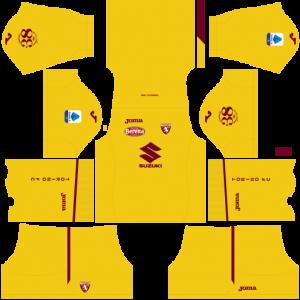Dream League Soccer DLS 512×512 Torino FC GoalKeeper Home Kits