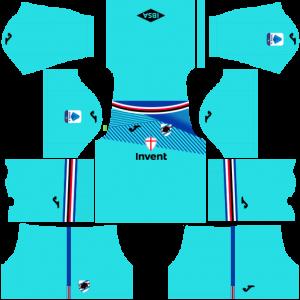 Dream League Soccer DLS 512×512 UC Sampdoria GoalKeeper Away Kits