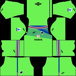 Dream League Soccer DLS 512×512 UC Sampdoria GoalKeeper Home Kits