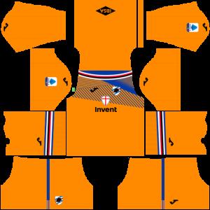Dream League Soccer DLS 512×512 UC Sampdoria GoalKeeper Third Kits