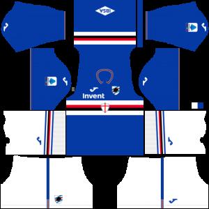 Dream League Soccer DLS 512×512 UC Sampdoria Home Kits