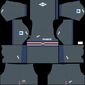 Dream League Soccer DLS 512×512 UC Sampdoria Third Kits