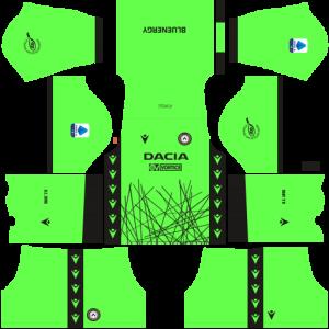 Dream League Soccer DLS 512×512 Udinese Calcio GoalKeeper Home Kits