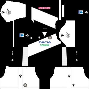 Dream League Soccer DLS 512×512 Udinese Calcio Home Kits