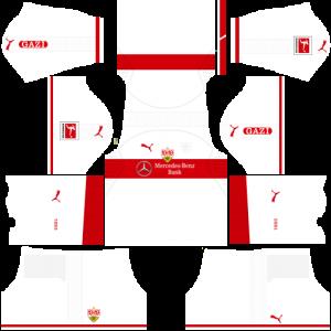 Dream League Soccer DLS 512×512 VfB Stuttgart Home Kits