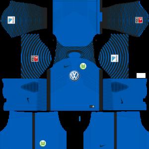 Dream League Soccer DLS 512×512 VfL Wolfsburg GoalKeeper Away Kits