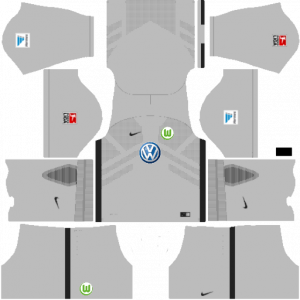 Dream League Soccer DLS 512×512 VfL Wolfsburg GoalKeeper Home Kits