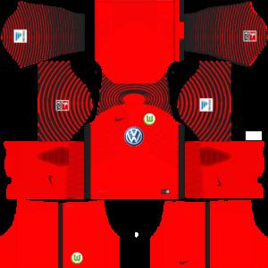 Dream League Soccer DLS 512×512 VfL Wolfsburg GoalKeeper Third Kits