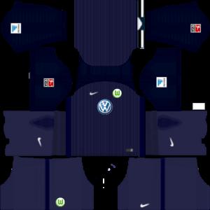 Dream League Soccer DLS 512×512 VfL Wolfsburg Third Kits