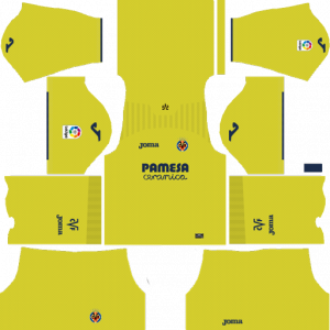 Dream League Soccer DLS 512×512 Villarreal CF Home Kits