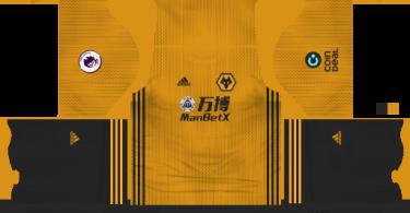 Dream League Soccer DLS 512×512 Wolverhampton Wanderers FC Home Kits